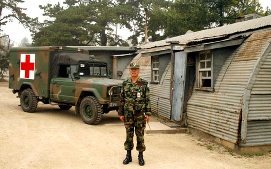 """Lt. Col. Cho Yong-In commands the 103rd Engineer Battalion, which is stationed at the former Camp Mosier — renamed """"installation 1398"""" by the South Korean army."""