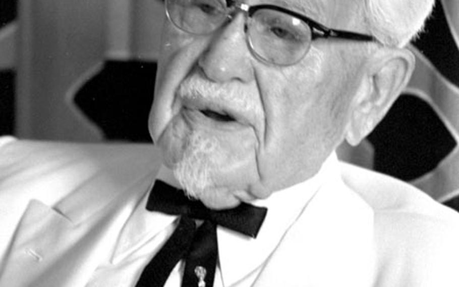 Col. Harland Sanders, during an interview in Tokyo in 1978.