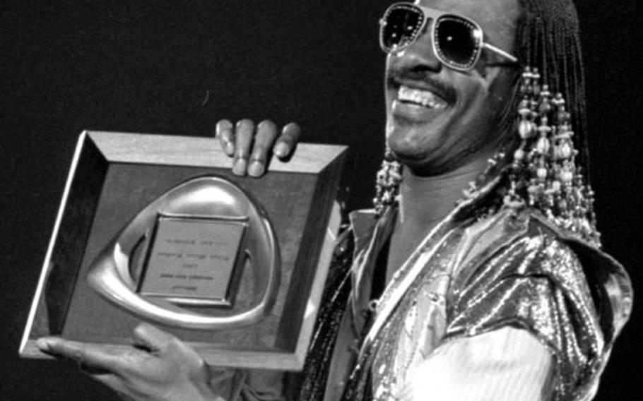 Stevie Wonder, at the 10th annual Tokyo Music Festival in 1981.