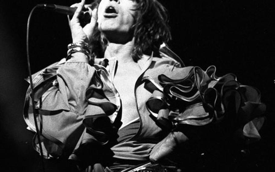 The Rolling Stones at Frankfurt's Festhalle in April, 1976.