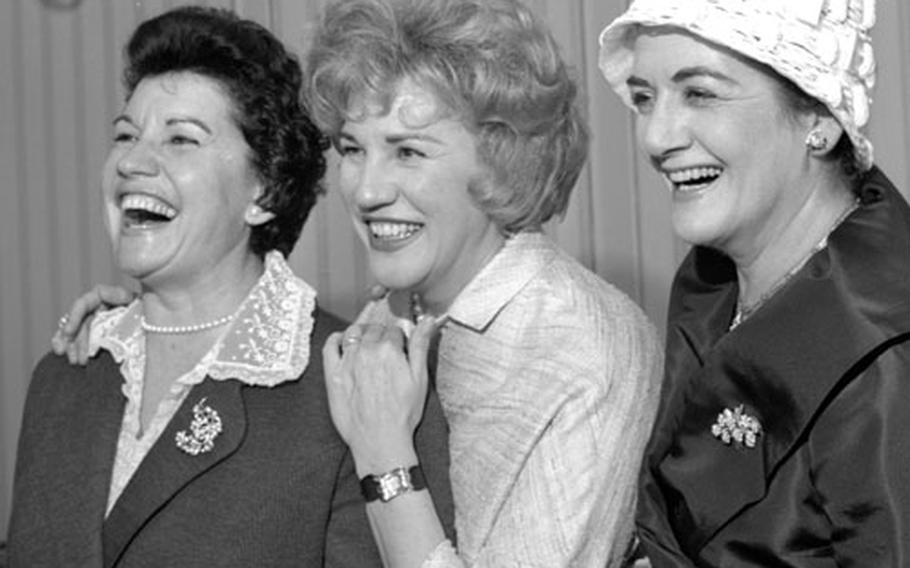 The Andrews Sisters — Maxene, Patty and LaVerne, left to right — in Germany in 1961.