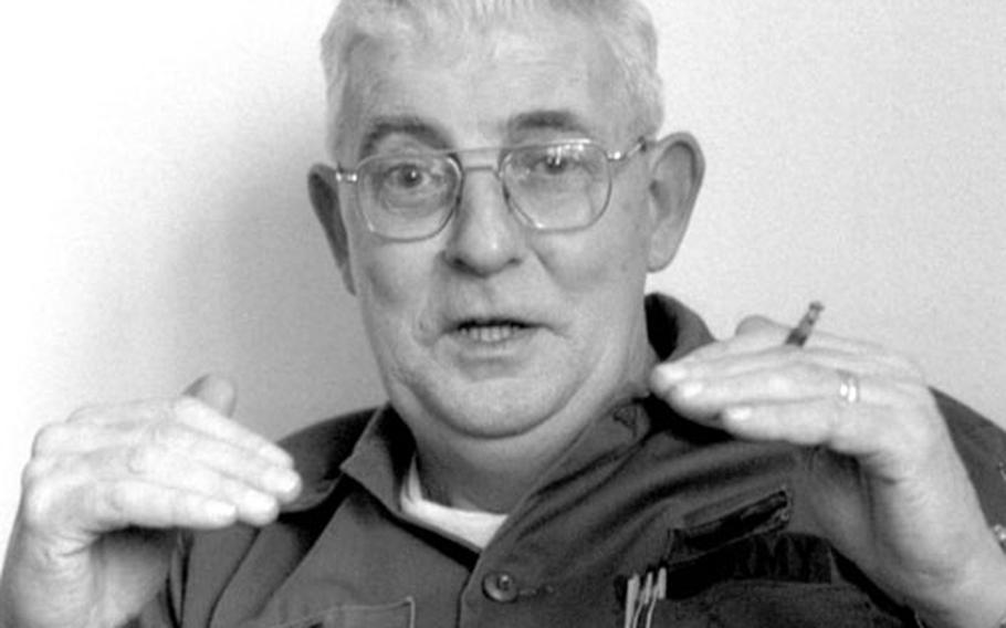 """Chief Warrant Officer Gerald P. """"Pappy"""" Devine recounts some of his experiences as a fighter pilot during a 1979 interview at Göppingen, Germany."""