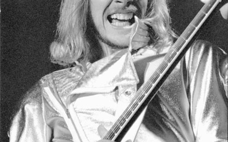 James Young of Styx plays the Festhalle in November, 1981.