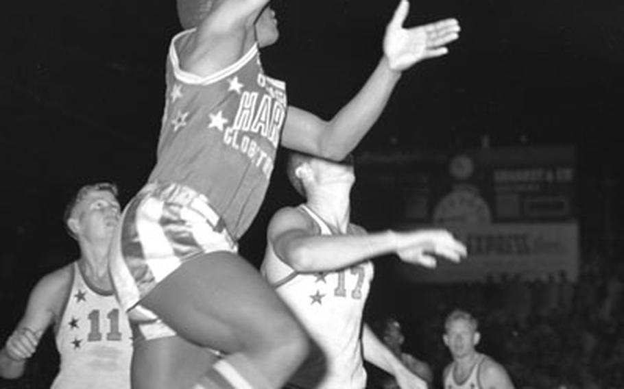 The Harlem Globetrotters in action at Munich.