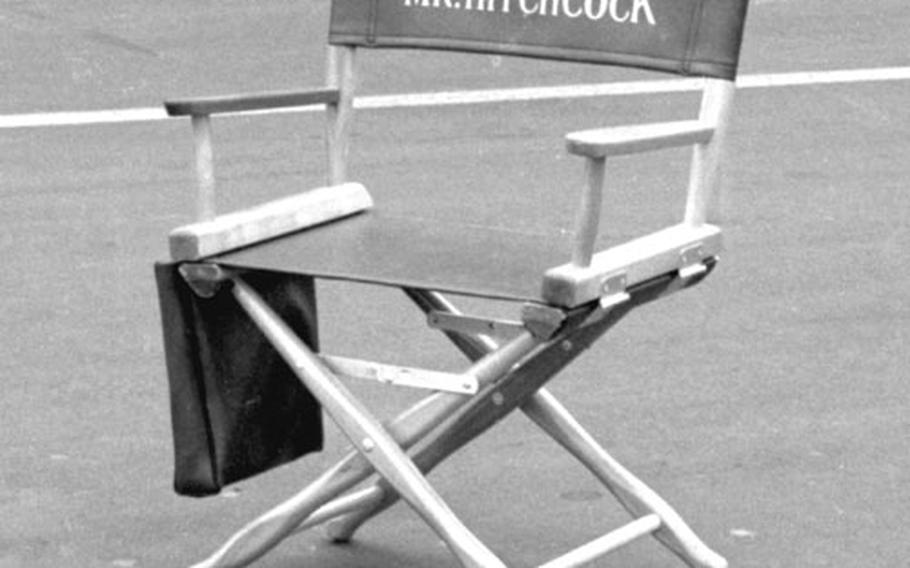 Alfred Hitchcock's director's chair.