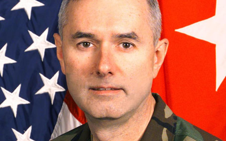 Brigadier General Michael S. Tucker, 1st Armored Division assistant divison commander for support.