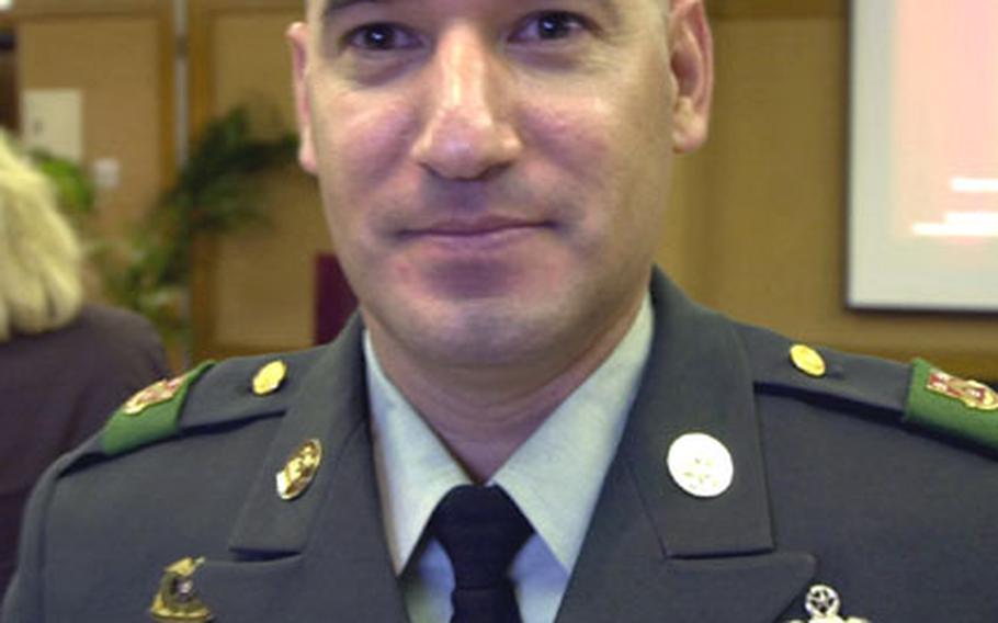 Command Sgt. Maj. Daniel Ocanas, 498th Combat Support Team.