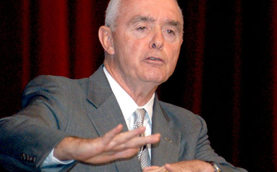 Retired Gen. Barry McCaffrey speaks at the Land Combat Expo.