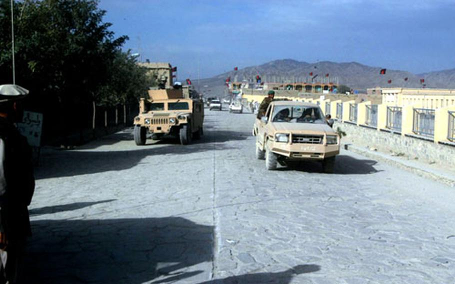 Thanks to funding from the U.S. Army, Orgun is the first community in Paktika province to have a cobblestone road. International Building Company of Kabul was selected to construct about three kilometers worth of cobblestone road in the town's center. About two-thirds of the work has been completed.