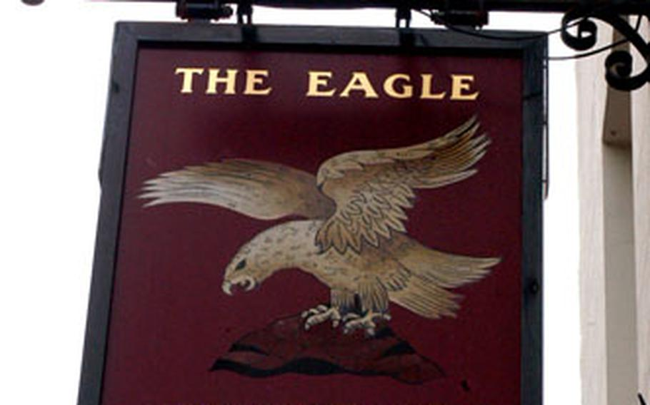 The Eagle is one of Cambidge's most affable bars, where patrons can see inscriptions burned into the ceiling by U.S. Air Force and RAF pilots and crews during World War II.