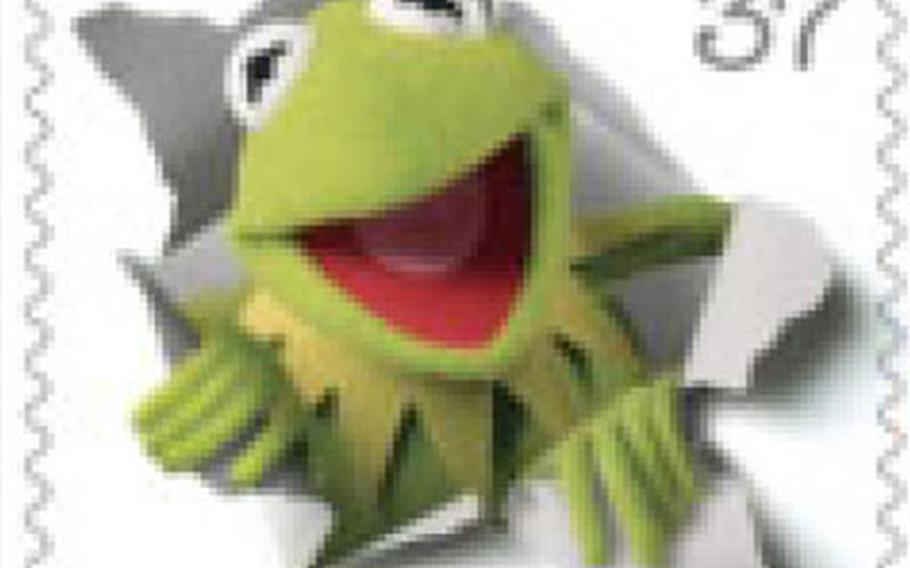 Kermit the Frog is among the characters on new stamps created to commemorate Jim Henson's Muppets characters.