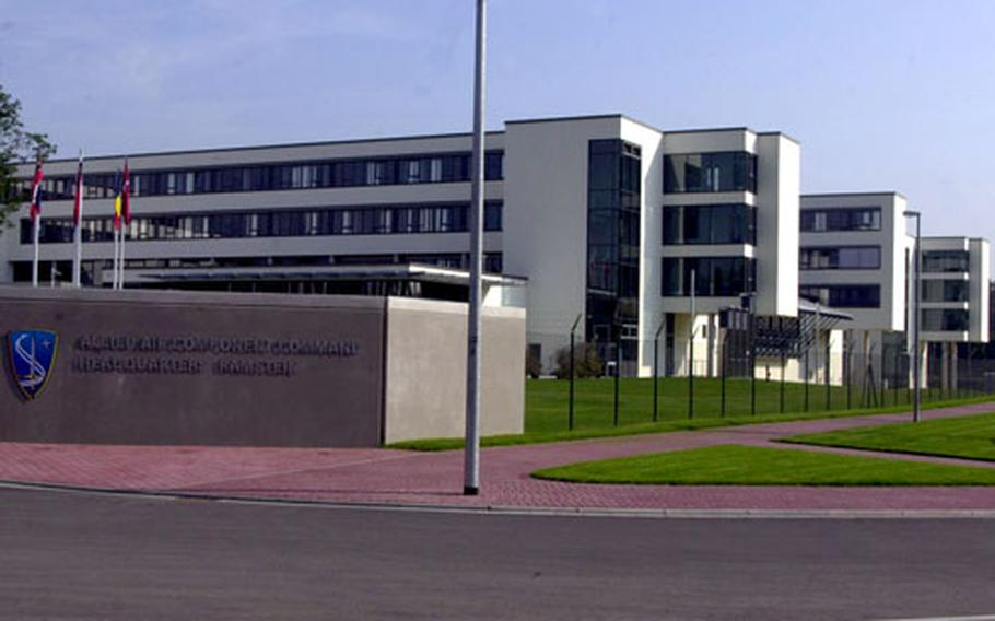 NATO's new Allied Air Component Command headquarters at Ramstein Air Base, Germany. The new building officially opened on Friday with a military ceremony.