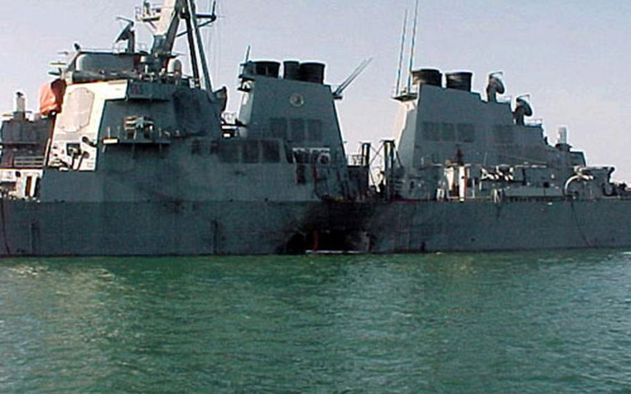 Seventeen sailors were killed in the October 2000 terrorist attack on the USS Cole.