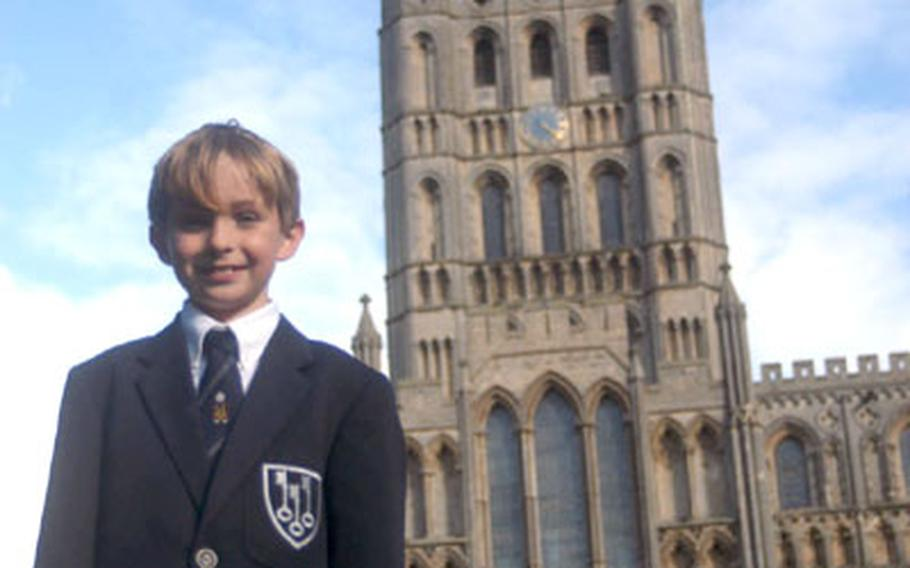 Maxwell Kunkle, 9, is preparing to join the choir at the ancient Ely Cathedral in England.