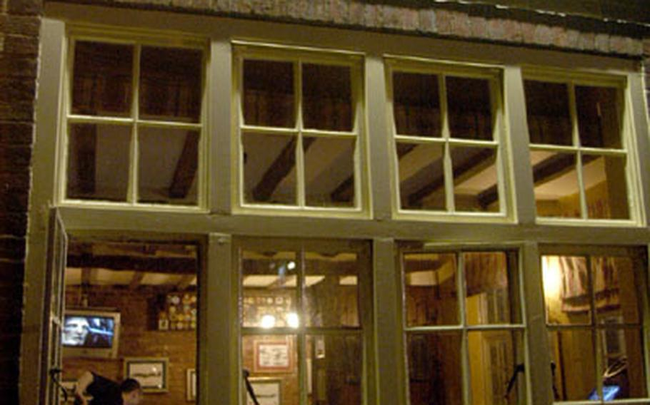 The Bird in Hand is a typical British pub and restaurant located a short walk from RAF Mildenhall, England.