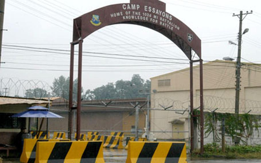 The 2nd Infantry Division vacated Camp Essayons, South Korea, in the last week of September.