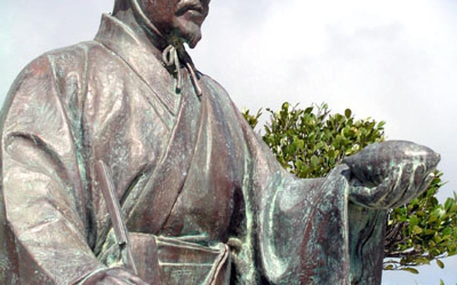 Noguni Sokan is known as Japan's Father of Sweet Potatoes. His statue is in front of Kadena Michinoeki, an observation spot on Highway 74, across from the runways on Kadena Air Base.