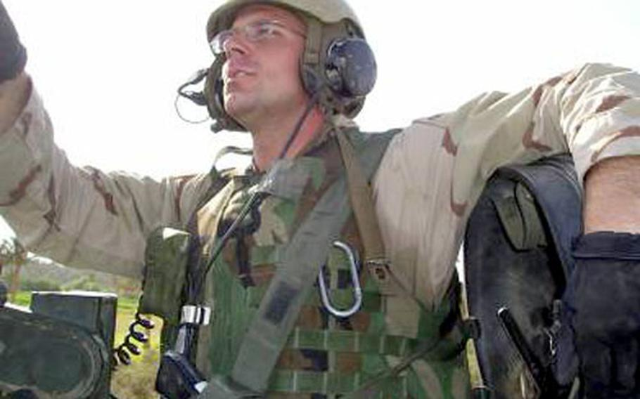 Army 1st Lt. Kenneth Ballard, pictured in 2004 in Iraq, was killed on May 30, 2004, in a friendly-fire incident. His family was initially told that Ballard was killed during a firefight with insurgents.
