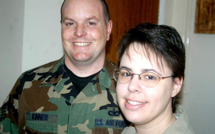 Staff Sgt. Jarrod and Ana Kinner of RAF Mildenhall, England, endured several months of fear and uncertainty when Ana Kinner was struck with necrotizing fasciitis, a very rare disease that nearly killed her twice.