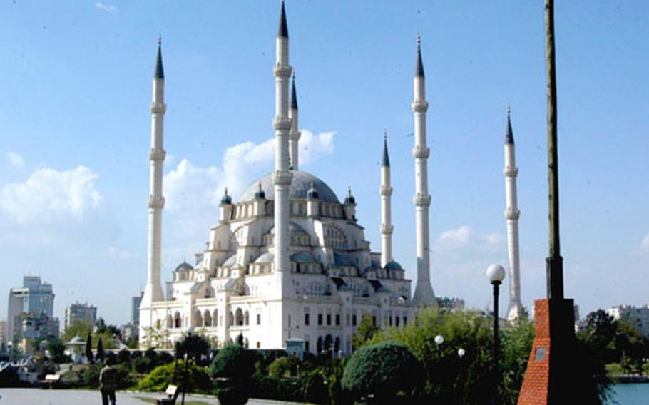 The Sabanci Mosque in Adana, Turkey, just a few minutes' drive from the gates of Incirlik Air Base, is the largest Muslim worship place in the Middle East.