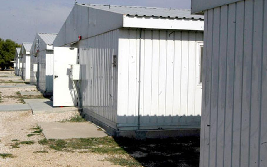 """""""Tent City"""" has become """"Tin City"""" at Incirlik Air Base in Turkey. Sixteen prefabricated buildings now sit on a site that used to house thousands during Operation Northern Watch."""