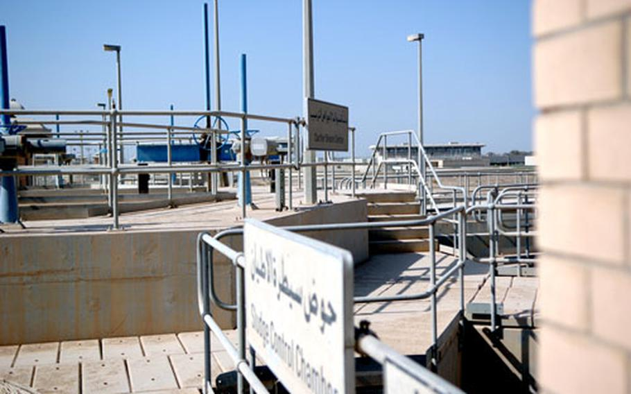 Tanks at the Khark Water Treatment Plant, Baghdad's primary water source. The plant supplies more than 70 percent of Baghdad residents with water.