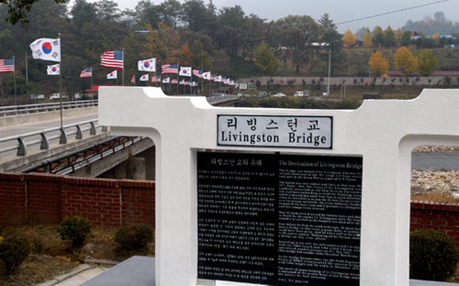 This bridge in South Korea was dedicated Friday to 2nd Lt. Thomas W. Livingston Jr., who was killed in action during the Korean War.