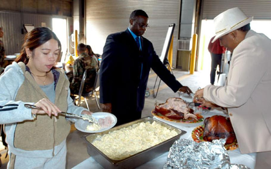 Army Community Services put on a free lunch for 2nd Infantry Division soldiers and spouses attending a Family Readiness Group symposium at Camp Casey, South Korea, on Tuesday.