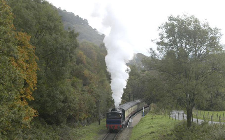 """The """"Princess"""" chugs through the English countryside in October."""