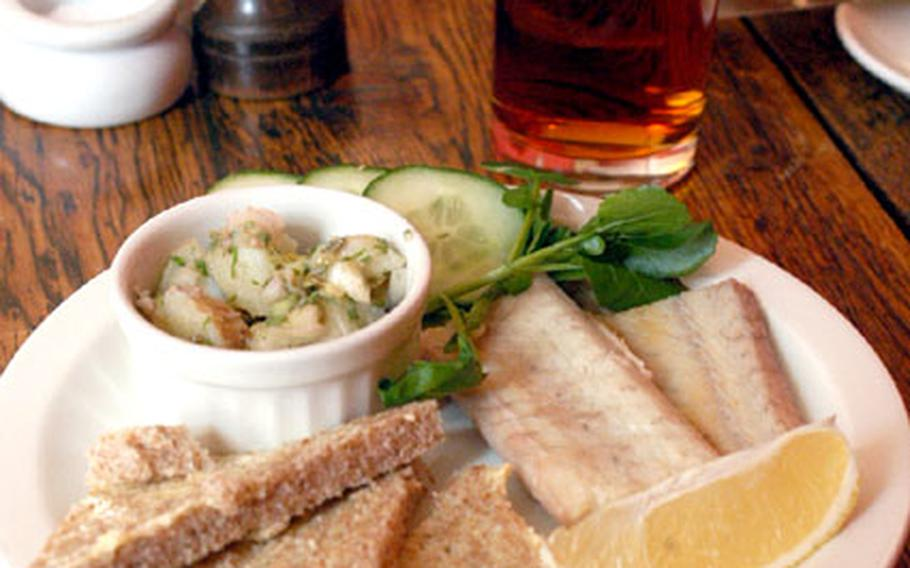 The smoked eel appetizer at The Old Fire Engine House in Ely, yours for just £8.95.