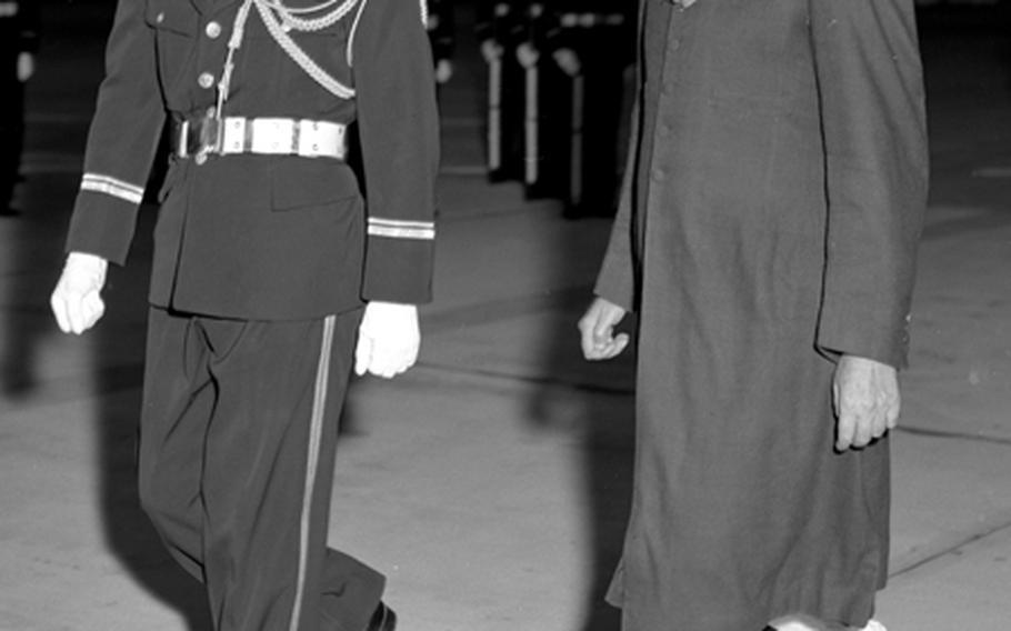 Prime Minister Nehru at Tokyo International Airport.