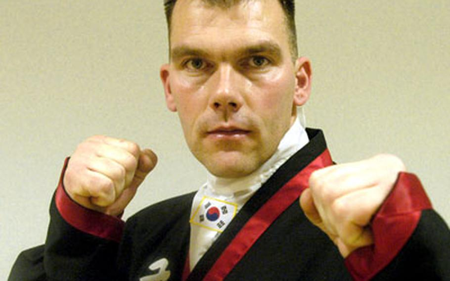 Darren Hart, 34, was recently named the youngest Kuk Sool Won black belt master outside of Korea. Hart has been teaching the martial art at RAF Lakenheath's gym since 1989.
