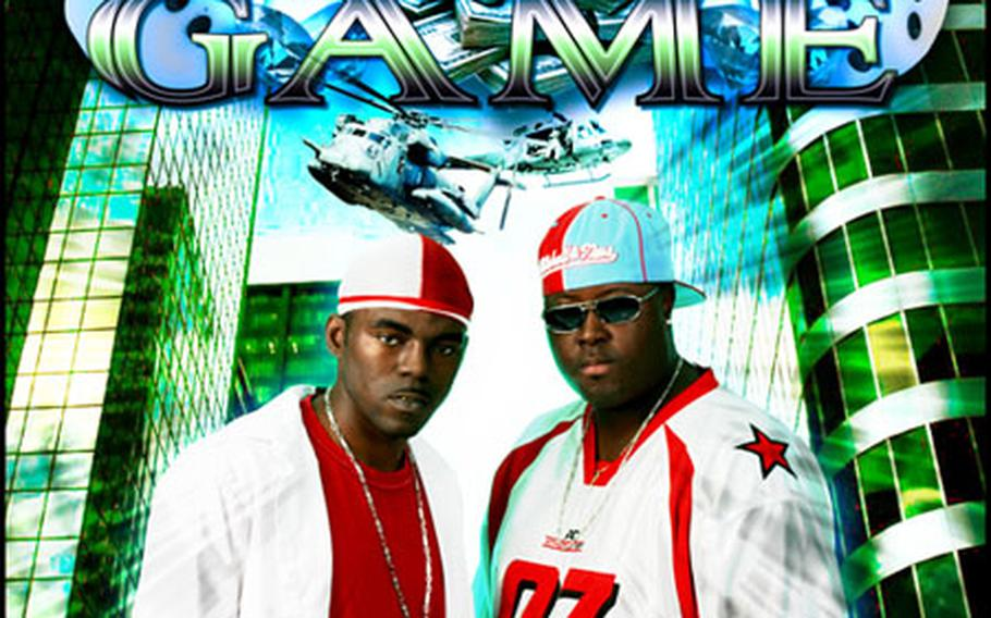 Spc. McAnthony Foster, left on this poster promoting the rap group Major Game, and his partner, Dennis McQueen, recently signed a production deal with a Berlin-based music company to the tune of $200,000.