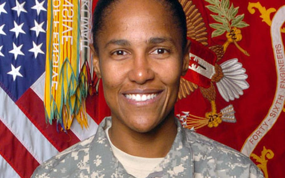 Lieutenant Colonel Carol L. Anderson, the commander of the 46th Engineer Combat Battalion, says she recently fought off an attack by a fellow U.S. servicemember.