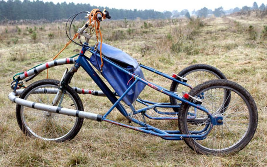 """One of the """"rigs"""" used by English husky racers."""