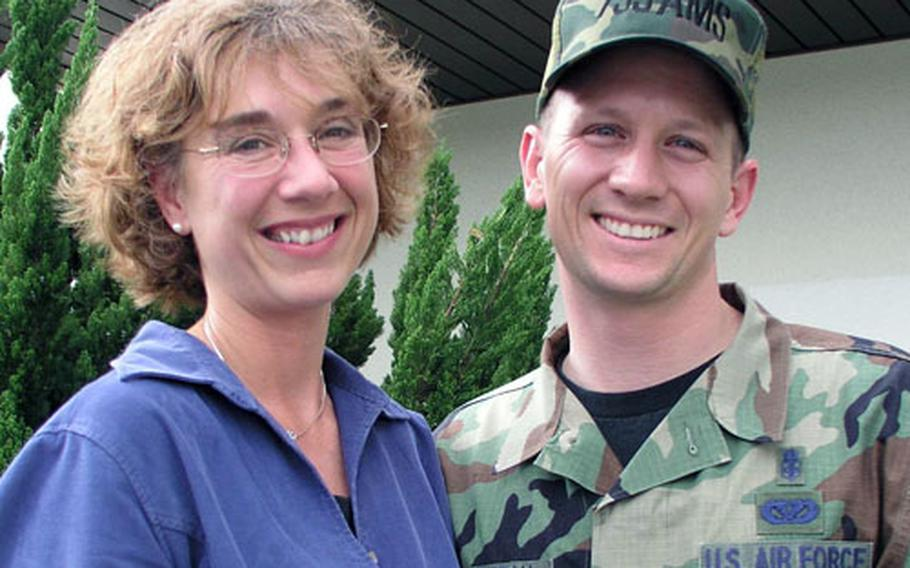Rhonda Dallas, social worker for Family Advocacy of the 18th Medical Operation Squadron, and her husband, 1st Sgt. Mike Robicheau of the Air Mobility Squadron at Kadena Air Base, will be among more than 10,000 athletes competing in Sunday's Okinawa Marathon.