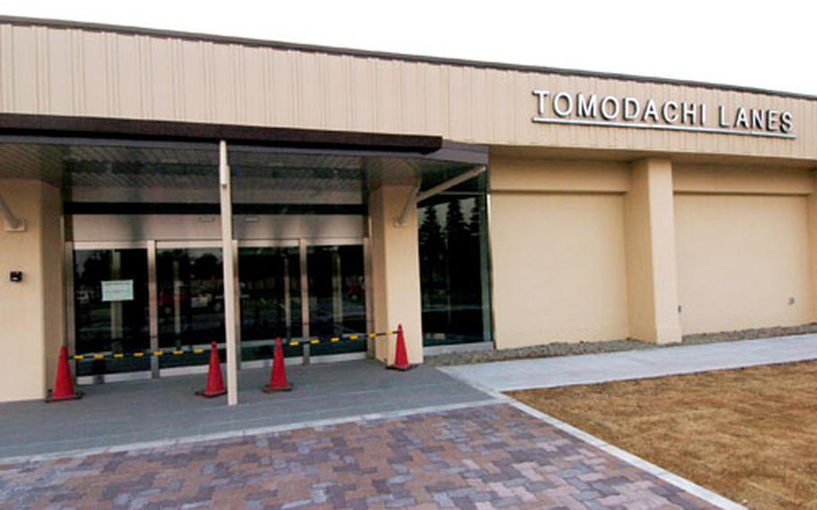 Construction on the new $5.7 million Tomodachi Lanes bowling center at Yokota Air Base, Japan, is expected to be complete by the end of this month. Officials now are aiming for an April grand opening.