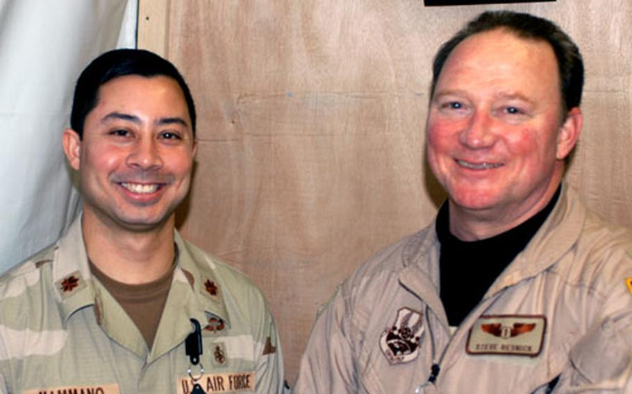 Maj. John Mammano and Maj. Steve Resnick at Balad's hospital said mass casualty drills can help minimize chaos in case of the real thing.