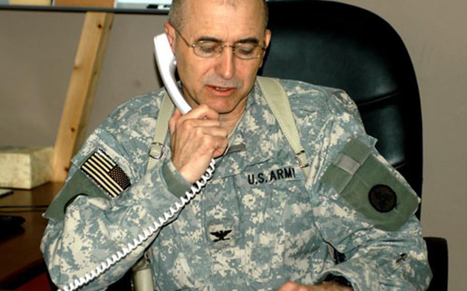 Dr. (Col.) Martin Christenson, who helped plan the mass casualty drill at Balad Air Base in Iraq, has had a long interest in trauma care. In Nebraska, he organized an emergency response drill where the town mayor pretended to have a heart attack.