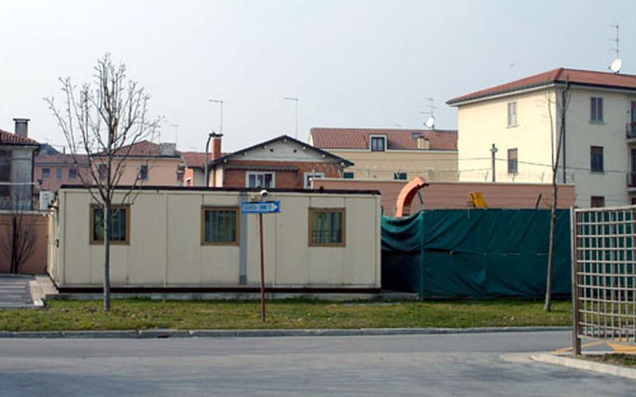 Italian buildings butt right up against the walls of Caserma Ederle, the Army's main base in Vicenza, Italy. While the Vicenza-based 173rd Airborne Brigade is slated to grow by up to 2,000 troops as part of the Army's transformation process this year, there's no room to grow at the base. A nearby Italian airfield and other land is being pursued for housing and office space.