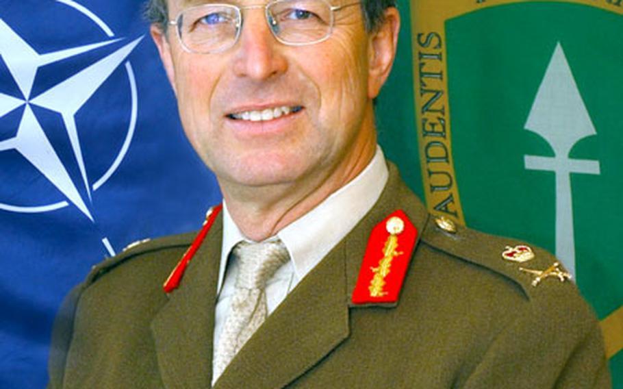 Lt. Gen. David Richards, commander of the Allied Rapid Reaction Corps.