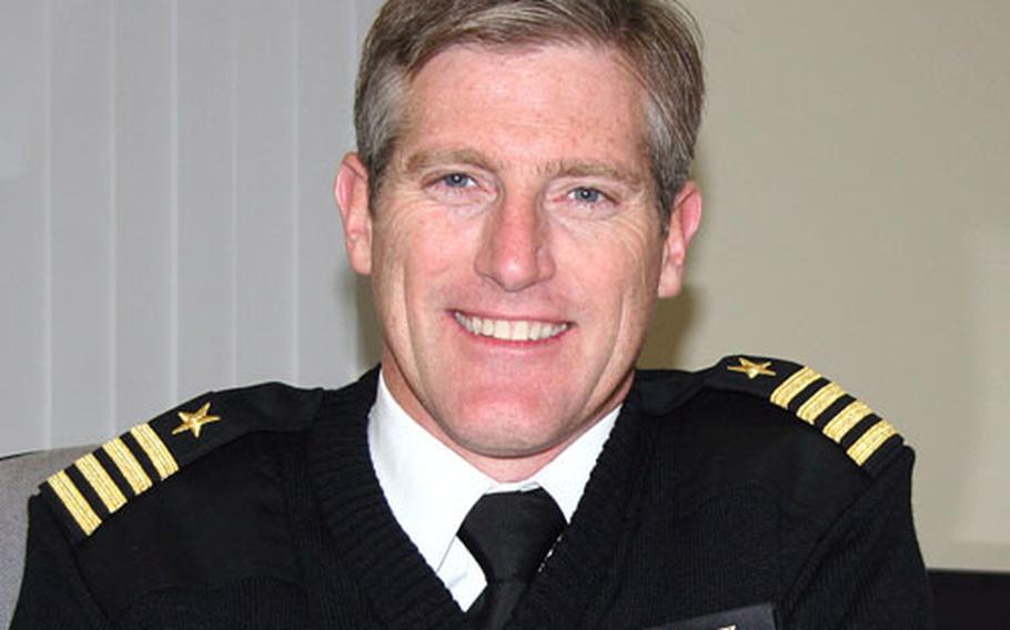 Naval Air Facility Atsugi commander Capt. Justin D. Cooper II.