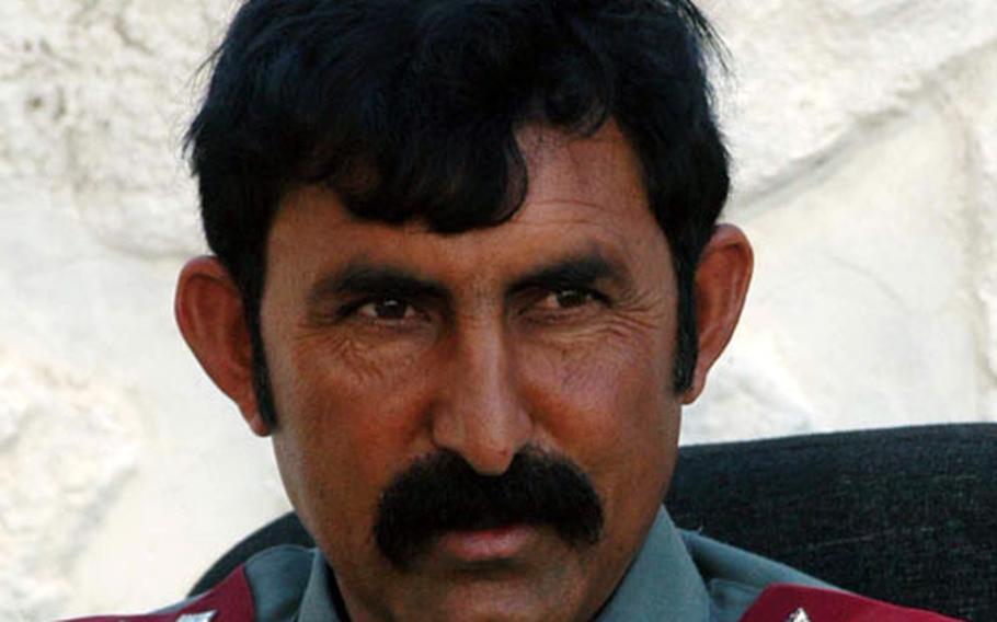 "Aaka Jan Rasool is police chief of Tran Wajaldak district in Afghanistan. ""We are police,"" he said. ""We are here to serve."""