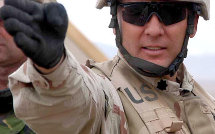 Lt. Col. Mark Stammer says the 2-503 spent about 90 percent of its year in Afghanistan engaging in diplomacy.