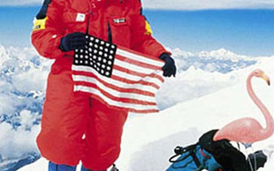 The first American woman to reach the peak of Mount Everest, Stacy Allison, will visit several U.S. bases in Europe in the coming weeks.
