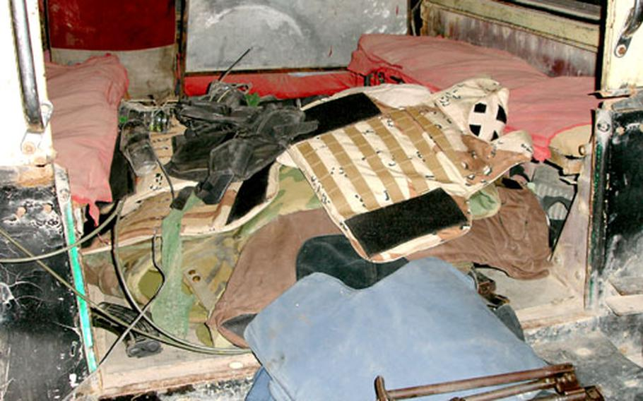 Weapons and equipment discovered by the 2nd Battalion, 1st Iraqi Special Operations Forces Brigade.