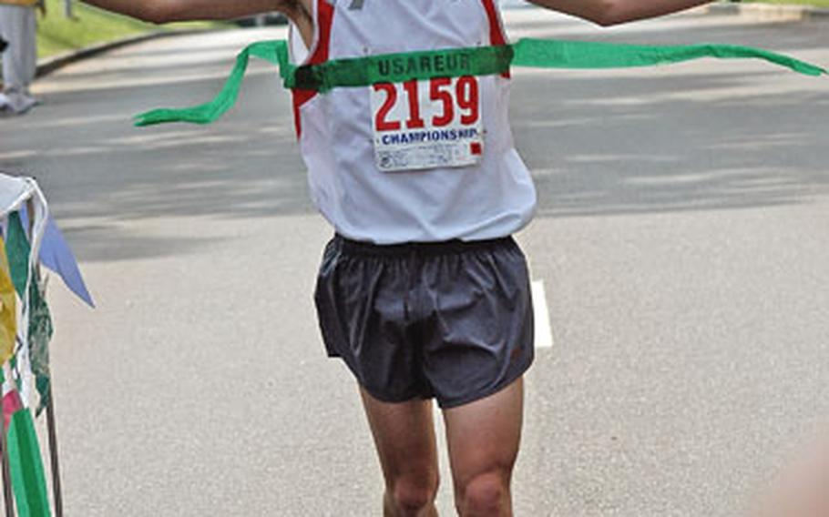 If Spc. Edmond Chapa — shown in Grafenwöhr, Germany, in July — qualifies for the U.S. Olympic Trials when he runs the Rotterdam Marathon on April 9 in the Netherlands, he will also qualify for the military's World Class Athlete Program. If he fails, he'll join his platoon on its yearlong deployment to the Middle East.