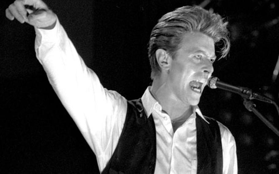 David Bowie at the Festhalle in Frankfurt, Germany, in April, 1990.