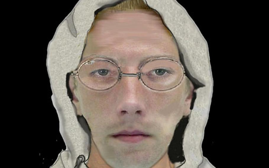 A computer-generated image of the suspect in several groping attacks in Kaiserslautern, Germany.