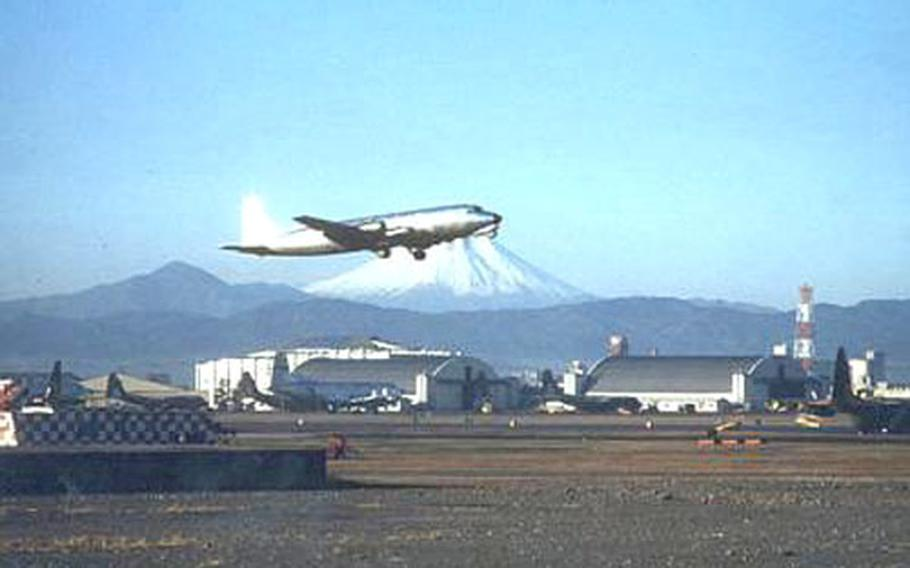 A DC-3 takes off at Tachikawa Air Base in this undated photo taken in the 1960s.